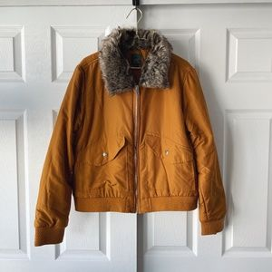 Wild Fable Faux Fur Collar Bomber Jacket